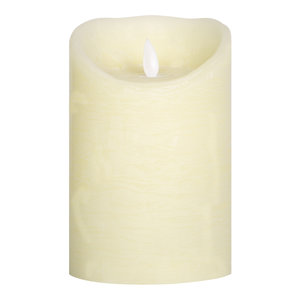 PTMD LED light candle Rustic cream moveable flame 10x8 L