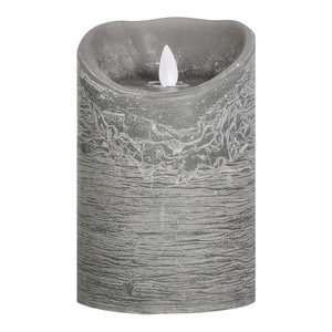 PTMD LED light candle Rustic grey moveable flame L