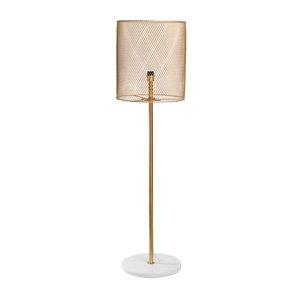 PTMD Julien gold Iron floor lamp Marble base high
