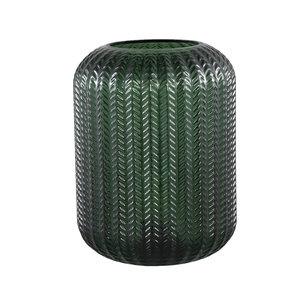 PTMD Larson green Glass table lamp motive round