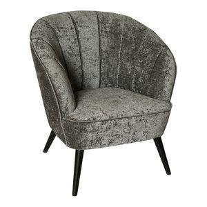 PTMD Hanna Luxury Grey Velvet Chair