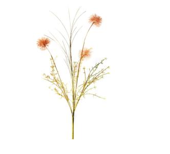House of Nature 'Kunstbloem 3 bloemen oranje'