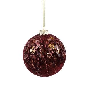 PTMD Christmas Fluflu burgundy glass ball glitter L