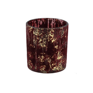 Fluflu Burgundy glass tealight glitter round S