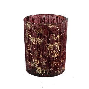Fluflu Burgundy glass stormlight glitter round L