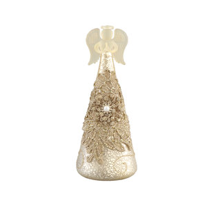 Christmas Chic pearl glass LED angel flower print