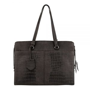 Burkely ' Croco Cody Workbag 15,6 ' ' Zwart'