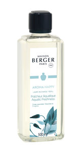 Lampe Berger ' AROMA HAPPY  ' Fraicheur Aquatique / Aquatic Freshness 500ML