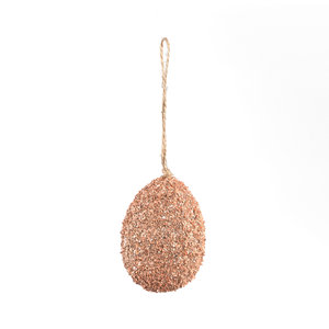 PTMD ' Darci Wit Hanger Paasei  ' Roze Glitters