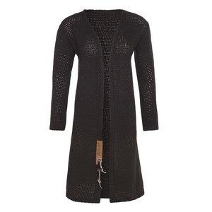 Knit Factory 'Gebreid Vest Luna' MAAT 40/42 'Donker Bruin'