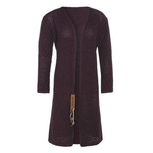 Knit Factory 'Gebreid Vest Luna' MAAT 40/42 'Aubergine '