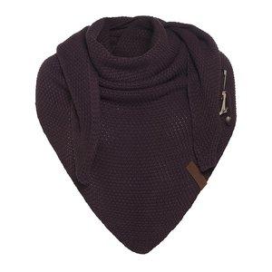 Knit Factory 'Omslagdoek Coco ' ' Aubergine '