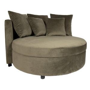 PTMD ' Fayen Velvet Green fauteuil half round '