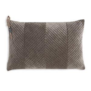 Knit Factory ' Kussen Beau ' ' Taupe ' 60 x 40  cm