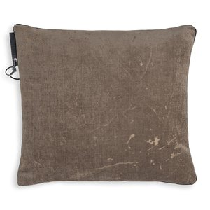 Knit Factory ' Kussen James ' ' Taupe ' 50 x 50  cm