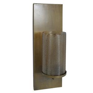 PTMD ' Novo Gold metalen lusterglas muur kandelaar '