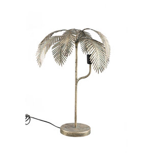 PTMD ' Siena Gold metalen lamp palm rond '