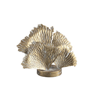 PTMD 'Devine Gold metalen LED lamp koraal bladeren '