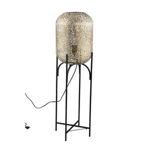 PTMD ' Jaimey Gold metalen staande lamp panter  '  M