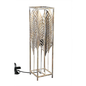 PTMD ' Fayline Gold ijzeren metalen tafellamp bladeren ' L