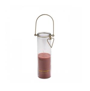 HomeSociety ' Roze kaars in glas '