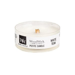Woodwick ' White Teak ' Petite Candle