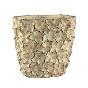 PTMD ' Linzy Green cement antieke bloem pot ovaal '