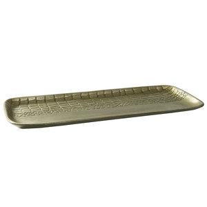 PTMD ' Chiva Champaign aluminium schaal rechthoek ' S