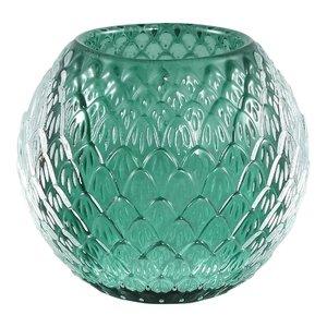 Ptmd waxinelicht donker groen glas